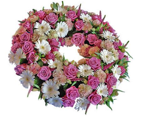 Blomsterkrans til begravelse